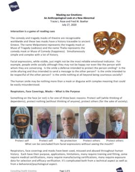 Cover_Masking our Emotions_Rose; Boelter