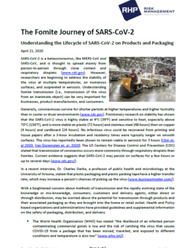 Cover_The Fomite Journey of SARS-CoV-2