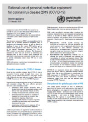 Rational Use of PPE for coronavirus_WorldHealthOrg